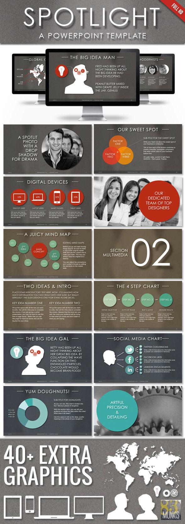 Spotlight Powerpoint Template - Business PowerPoint Templates