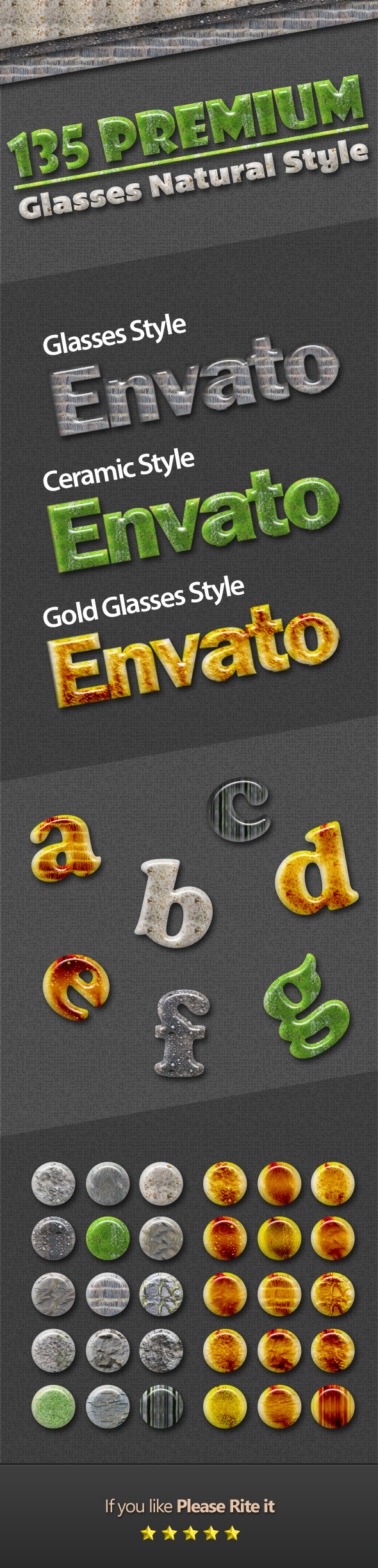 135 Premium Glasses Natural Style - Text Effects Styles