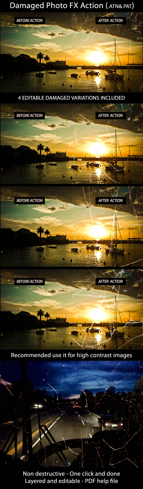 Damaged Photo FX Action - Photo Effects Actions