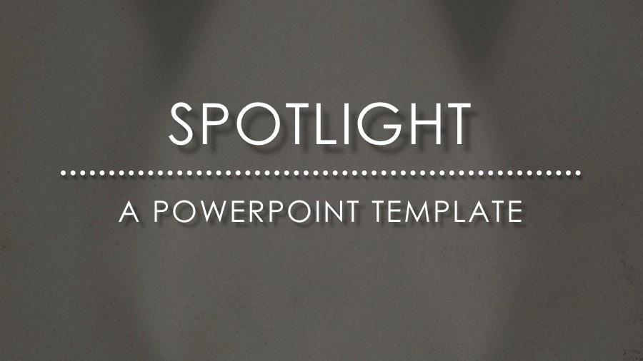 spotlight powerpoint template83munkis | graphicriver, Modern powerpoint