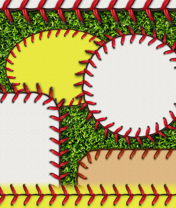 Baseball Stitches Brush & Styles Pack - Brushes Illustrator