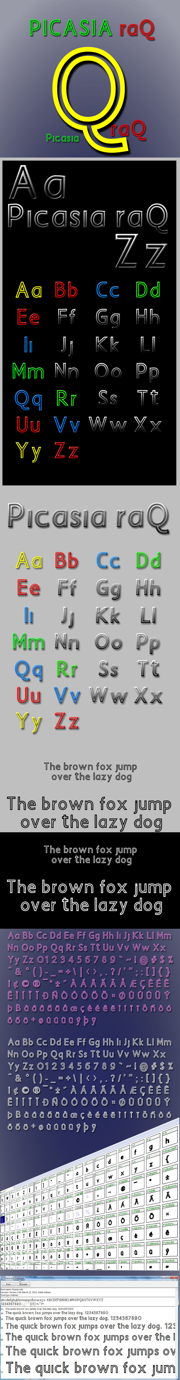 Picasia Raq - Sans-Serif Fonts