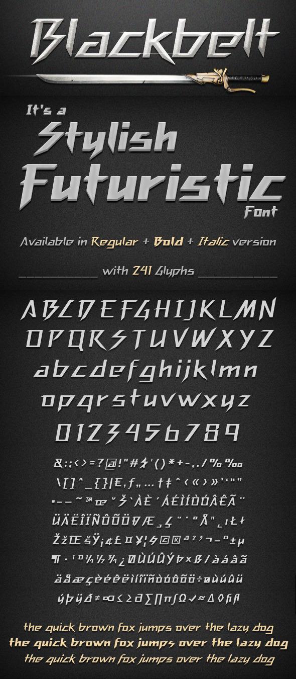 Blackbelt Font - Futuristic Decorative