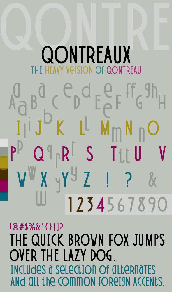 Qontreaux: Bold Elegant Modern Typeface - Fonts