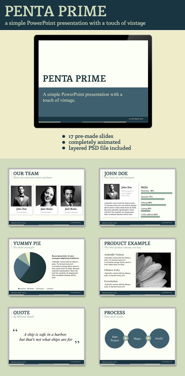 Penta Prime PowerPoint Template - Presentation Templates