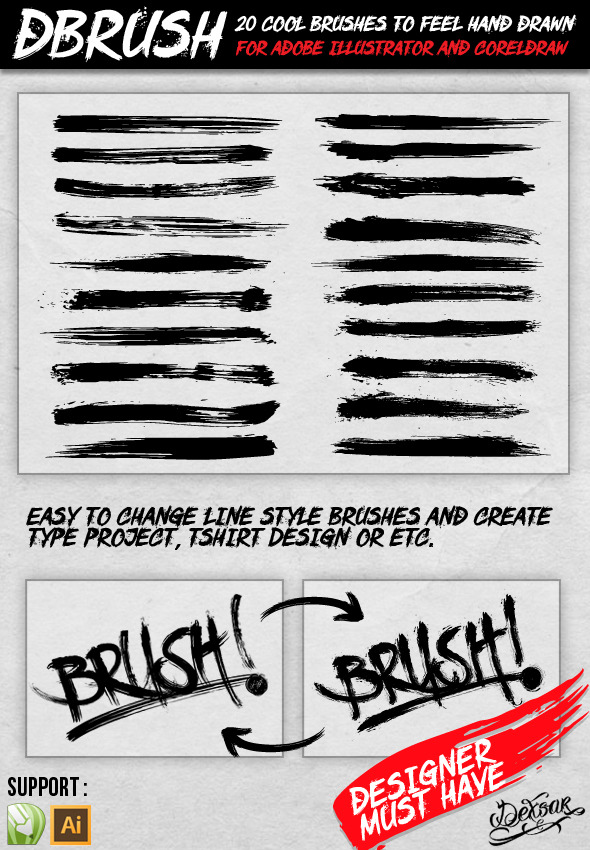 dBrush - 20 Cool Brush - Artistic Brushes