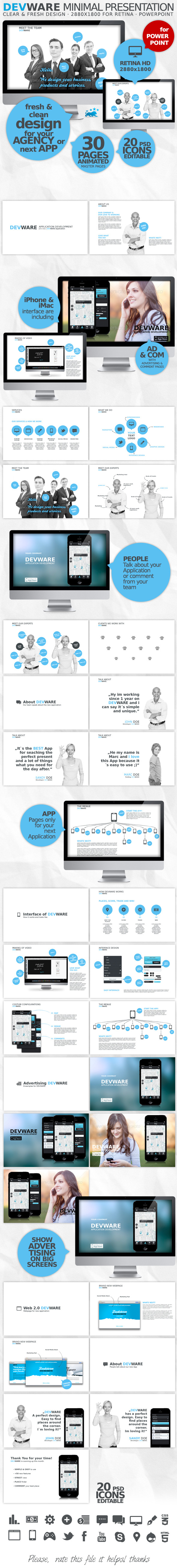 DEVWARE | 30 Pages | PowerPoint Presentation - Business PowerPoint Templates