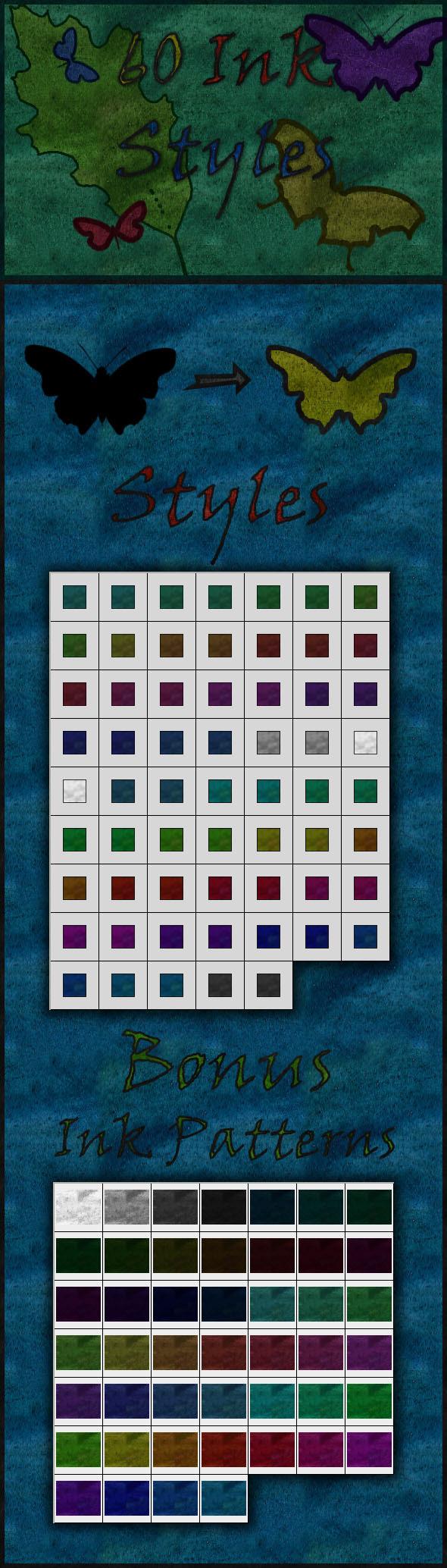60 Ink Styles - Styles Photoshop