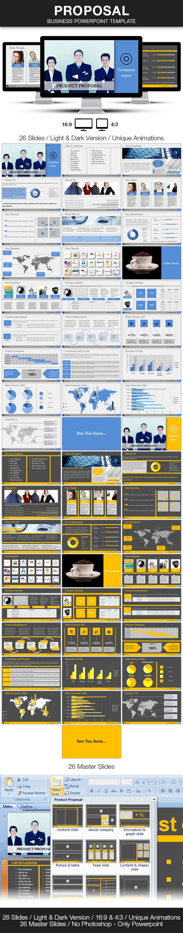 Proposal Business Powerpoint Template by BlueMonkeyLab – Powerpoint Proposal Template
