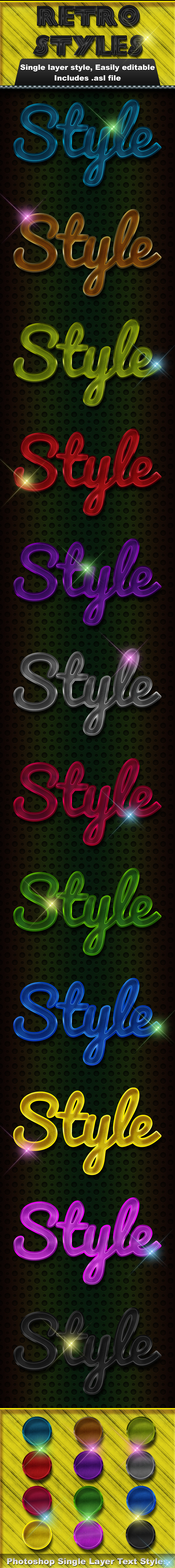 Retro Styles - Text Effects Styles