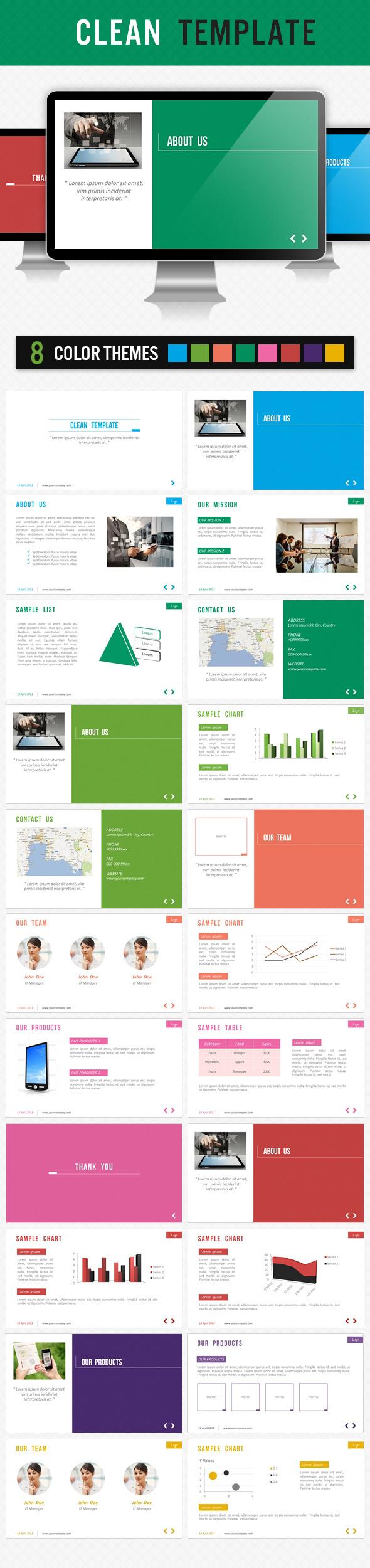 Clean Template - Presentation Templates