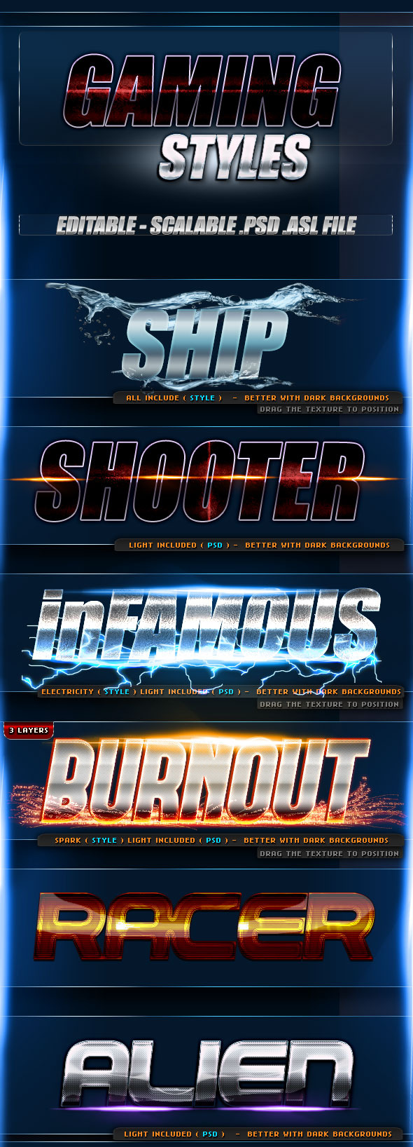 Gaming Styles - Text Effects Styles