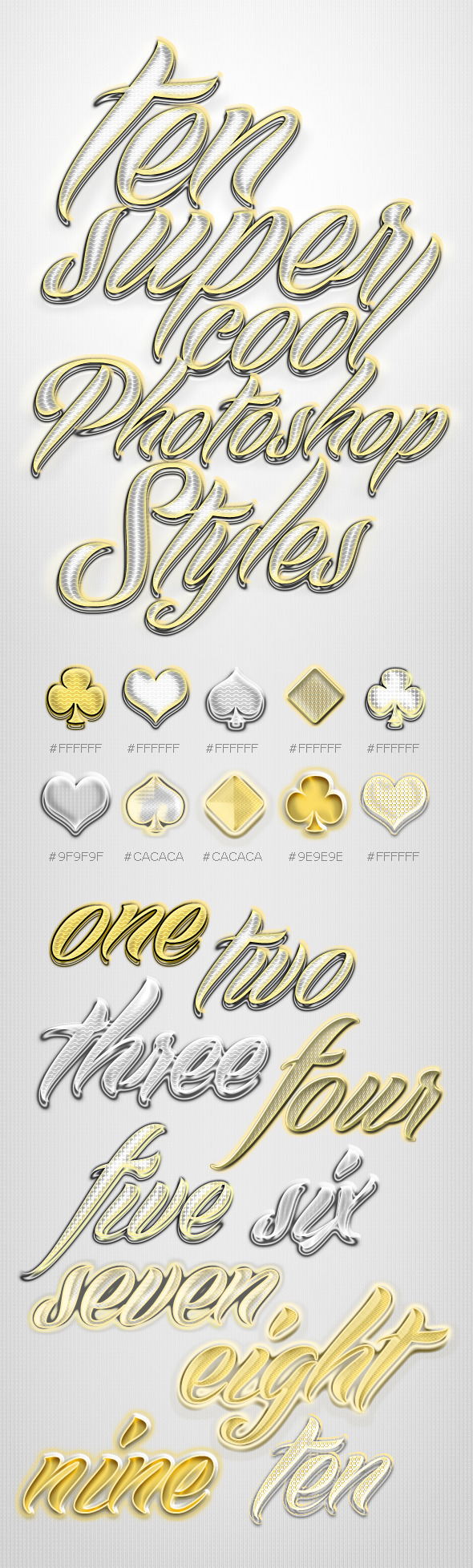 Gold & Silver Shiny Layer Styles - Text Effects Actions