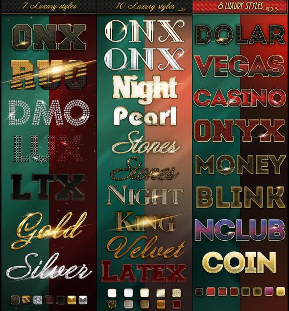 Bundle 25 Luxury Styles - Text Effects Styles