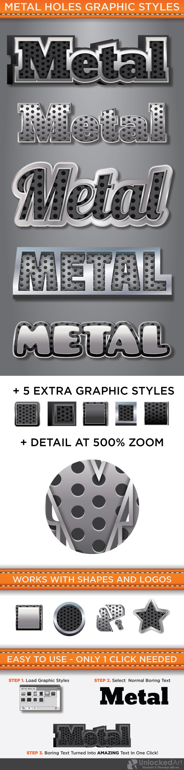 Metal Holes Graphic Style - Styles Illustrator