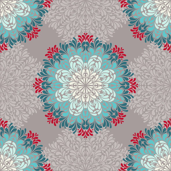 Seamless Pattern with Abstract Elements - Abstract Textures / Fills / Patterns