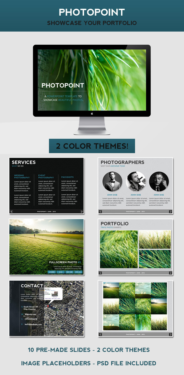 PhotoPoint PowerPoint Template - Presentation Templates