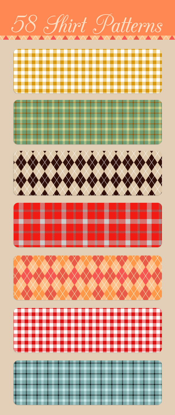 Seamless Shirt Patterns - Miscellaneous Textures / Fills / Patterns