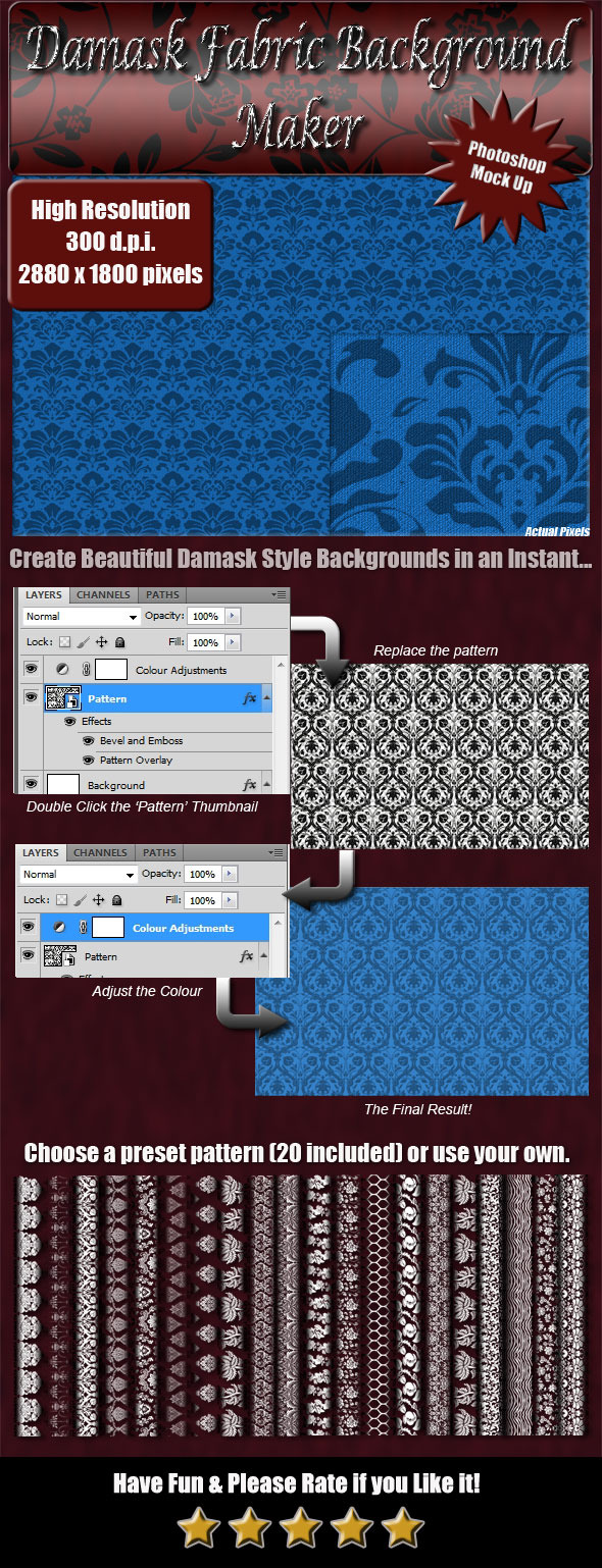 Damask Fabric Background Maker - Miscellaneous Textures / Fills / Patterns