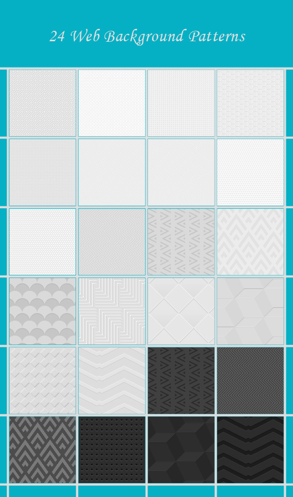 24 Web Background Patterns - Miscellaneous Textures / Fills / Patterns