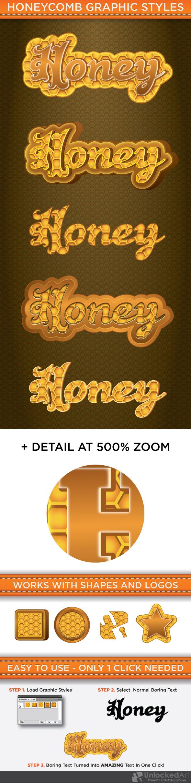 HoneyComb Graphic Styles - Styles Illustrator