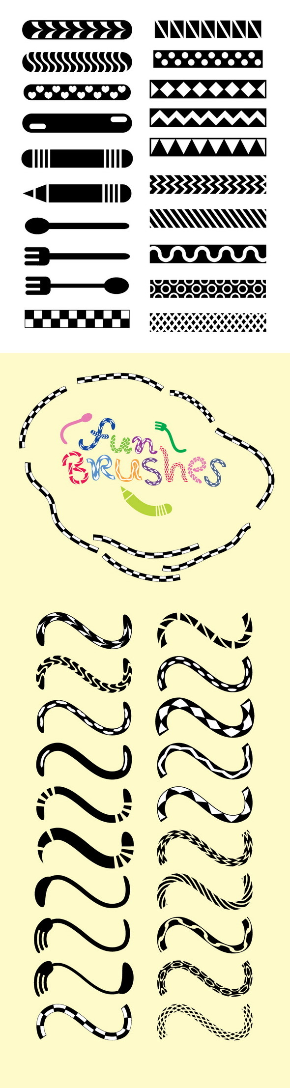 Fun Brushes for Illustrator - Miscellaneous Brushes