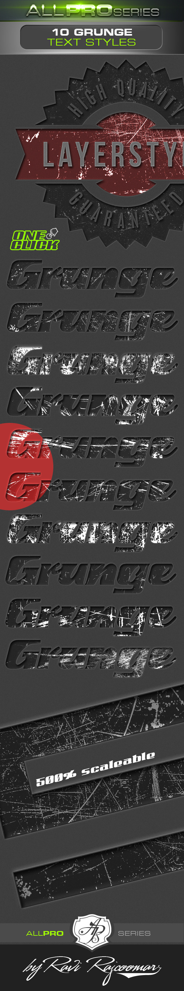 Grunge Photoshop Text Styles - Text Effects Actions