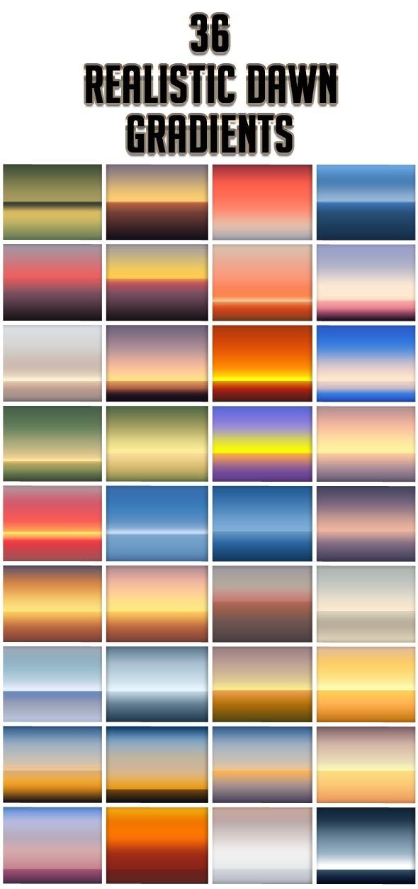 Realistic Dawn Gradients - Photoshop Add-ons