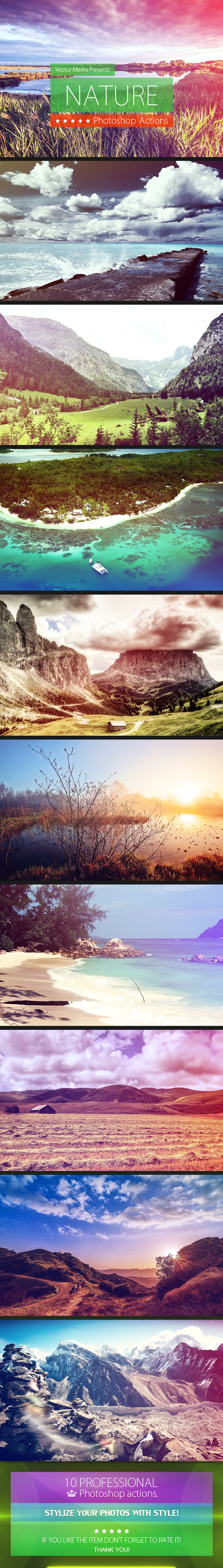 Nature - Photoshop Actions - Photo Effects Actions