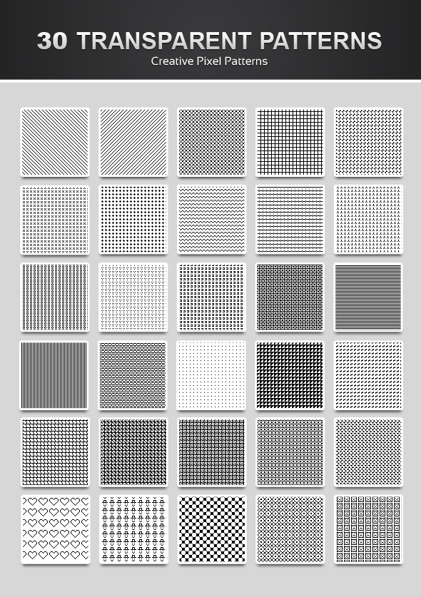 30 Pixel Patterns - Miscellaneous Textures / Fills / Patterns