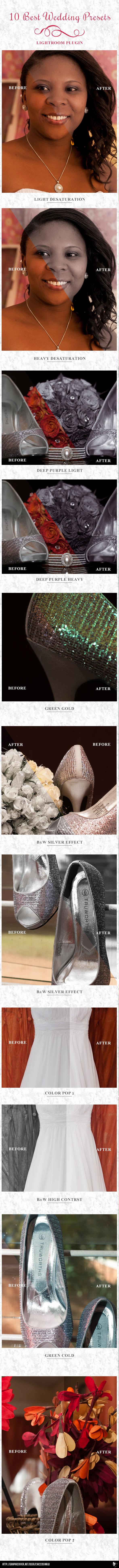 10 Wedding Presets - Wedding Lightroom Presets