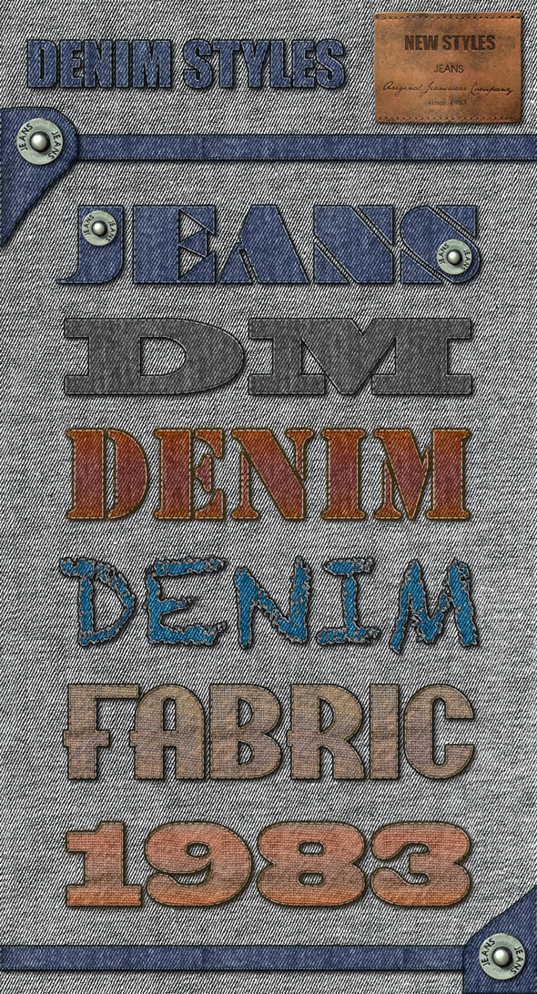Denim Styles - Text Effects Styles
