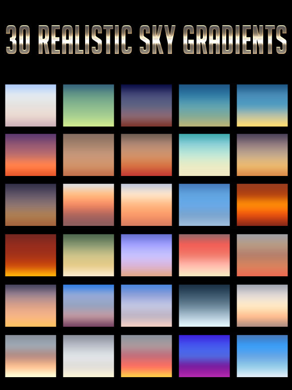 30 Realistic Sky Gradients - Add-ons