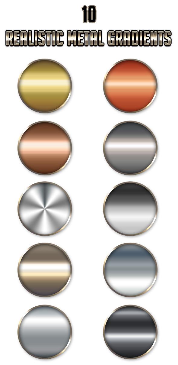 10 Realistic Metal Gradients - Add-ons