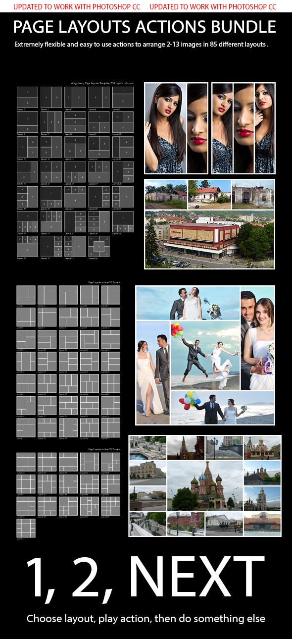 Page Layouts Actions Bundle - Actions Photoshop