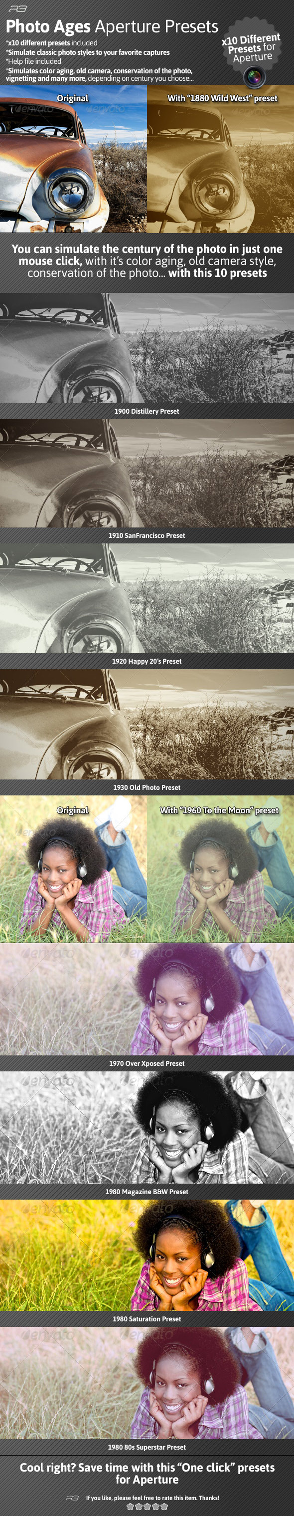 Photo Ages Aperture Presets - Aperture Presets Add-ons