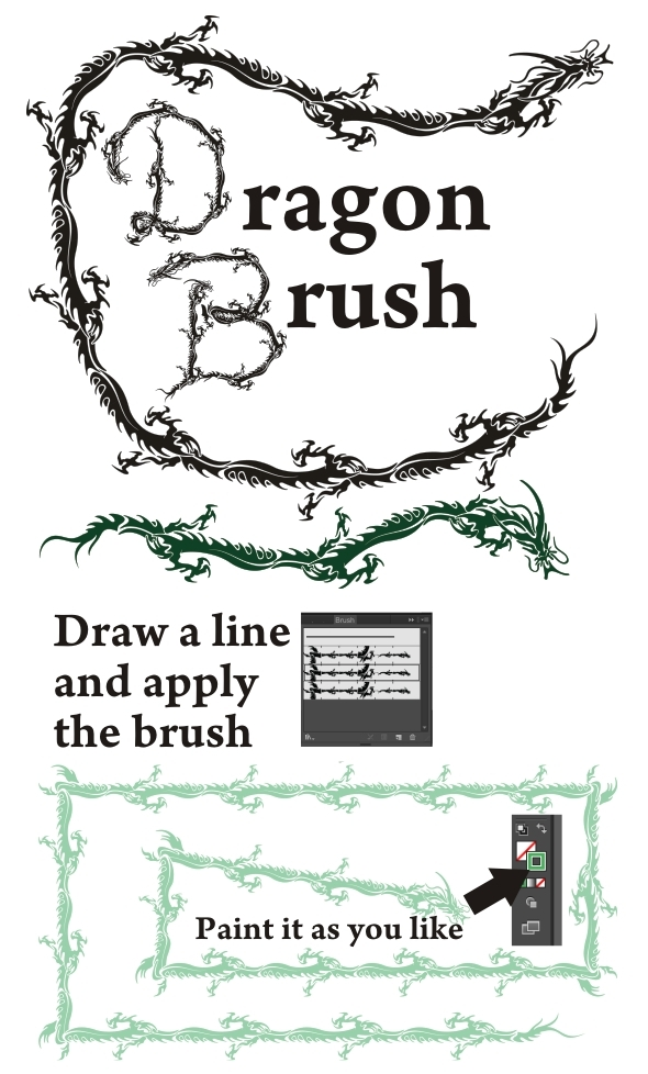 Dragon Brush - Abstract Brushes
