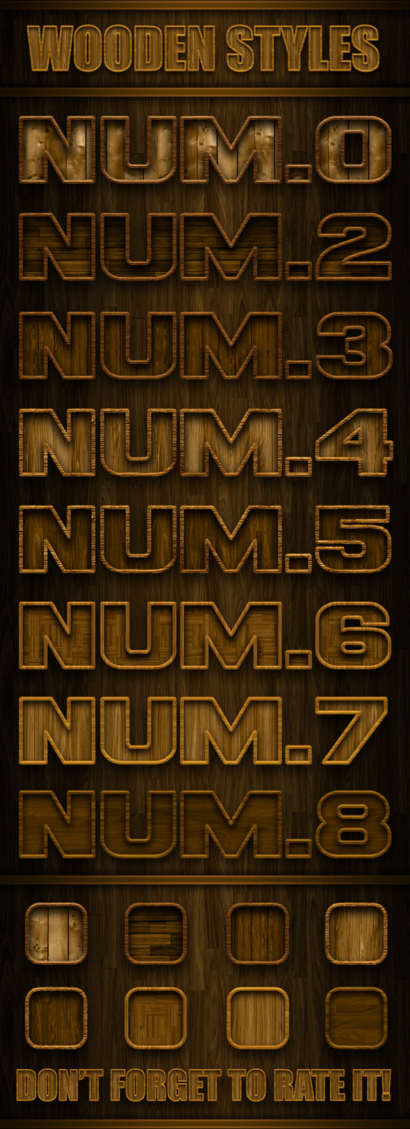 Wooden Styles - Text Effects Styles