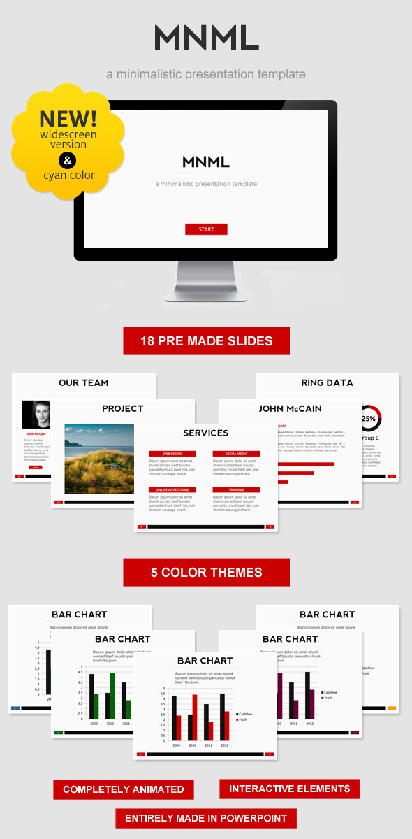 MNML PowerPoint Template - Business PowerPoint Templates