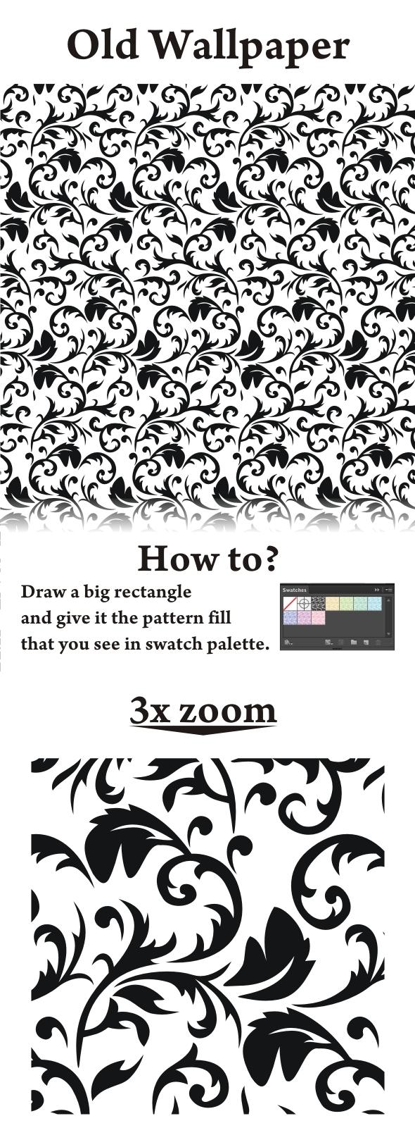 Old Wallpaper - Artistic Textures / Fills / Patterns