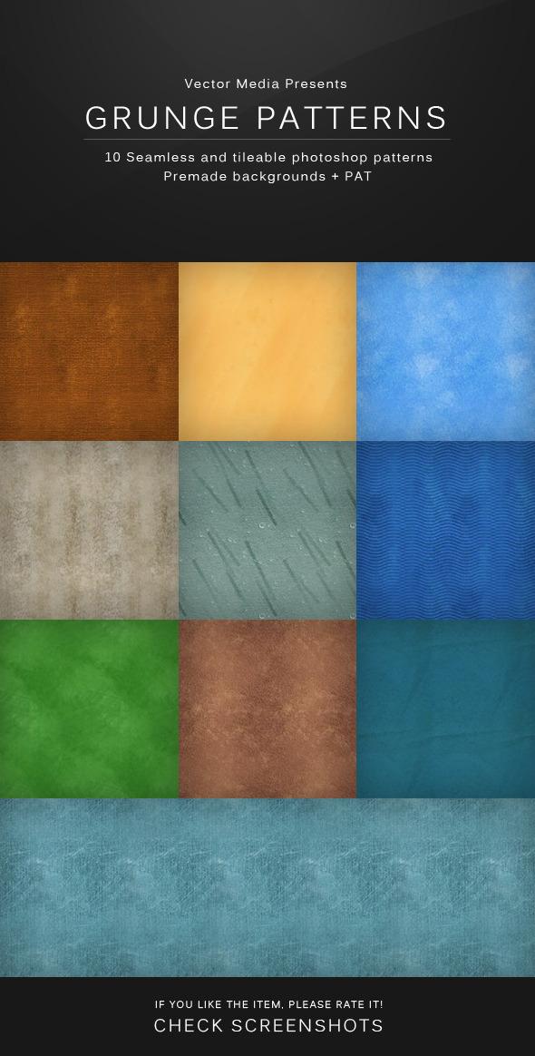 Grunge Patterns - Textures / Fills / Patterns Photoshop