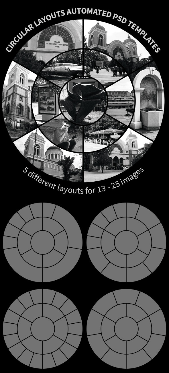 Circular Layouts Automated PSD Templates - Photoshop Add-ons