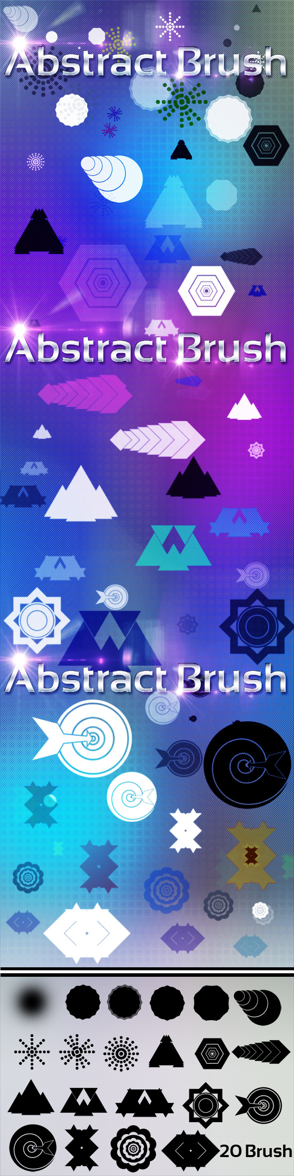 20 Abstract Brush - Brushes Photoshop