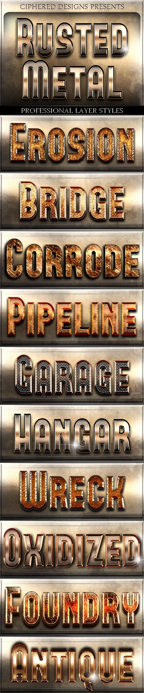 Rusted Metal - Professional Layer Styles - Text Effects Styles