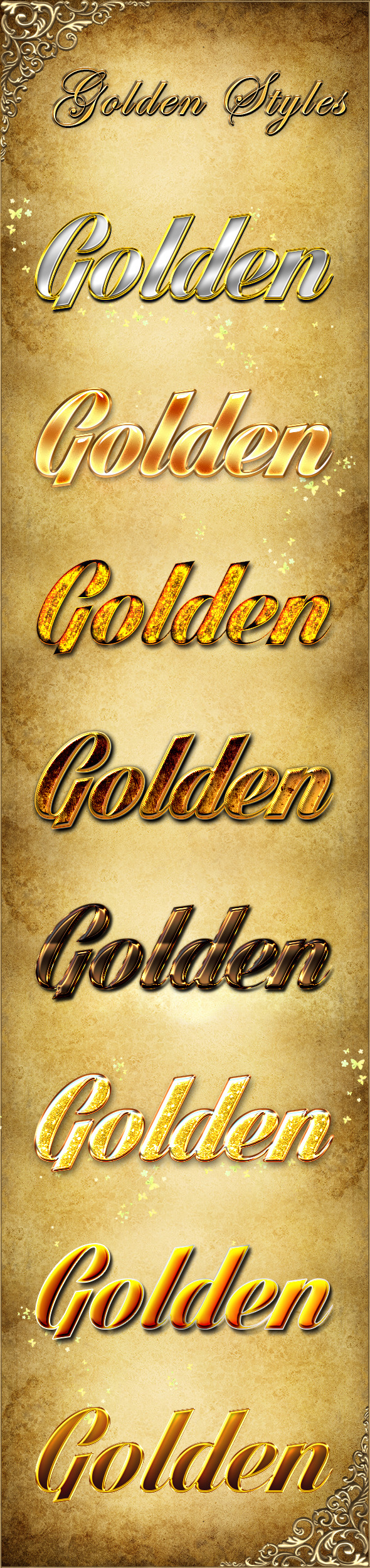 Golden Styles - Text Effects Styles