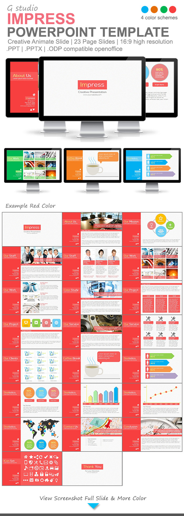 Gstudio Impress Powerpoint Template - PowerPoint Templates Presentation Templates
