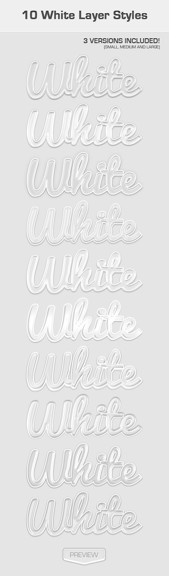 White Text Effects - Text Effects Styles