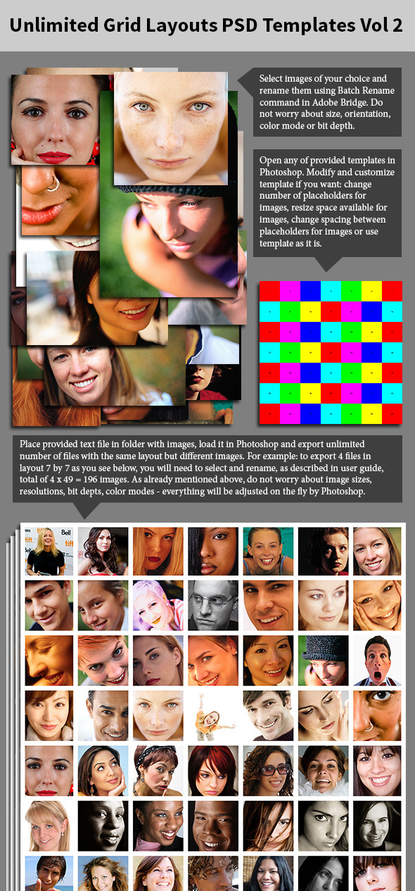 Unlimited Grid Layouts PSD Templates Vol 2 - Photoshop Add-ons