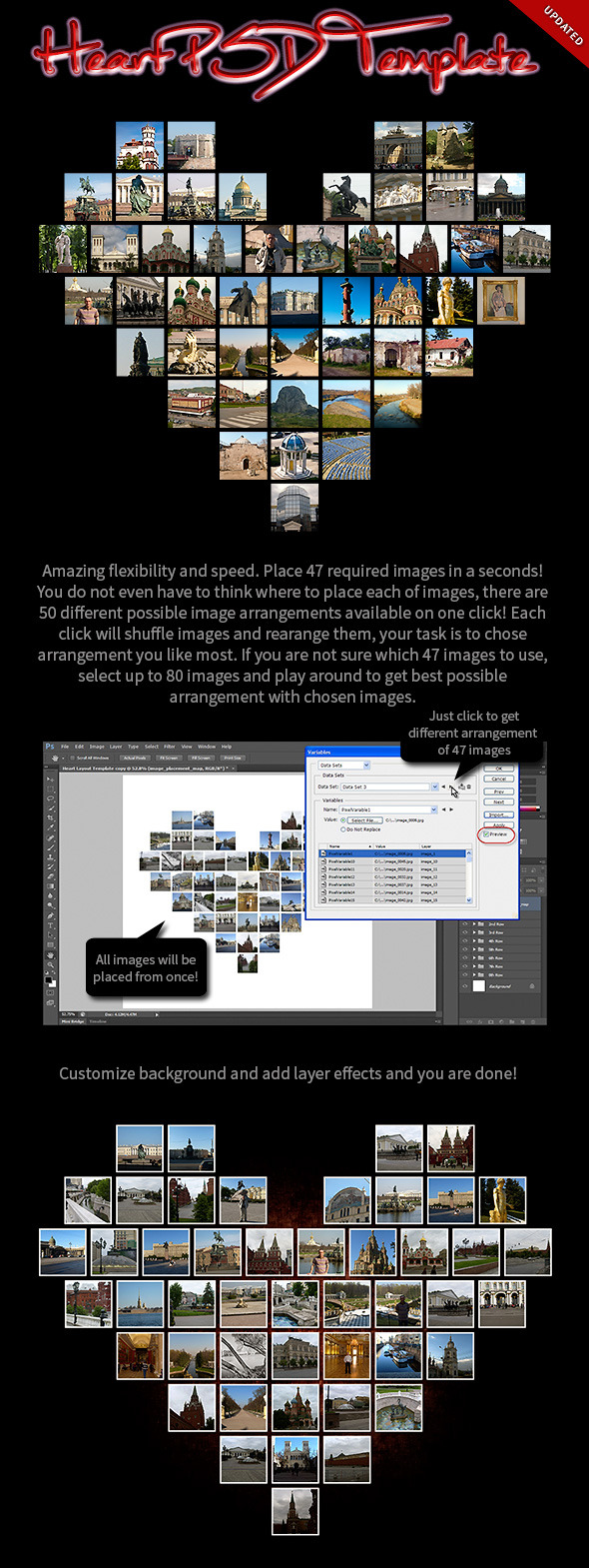 Heart Layout PSD Template - Photoshop Add-ons
