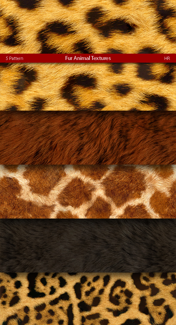 Fur Animal Patterns - Nature Textures / Fills / Patterns